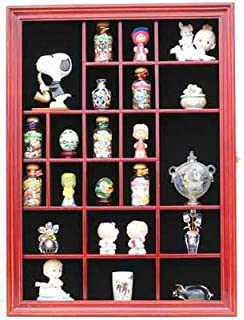 Small Wall Curio Cabinet / Miniature Thimble Display Case Shadow Box Frame,  With REAL Glass