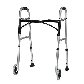 Marco para caminar plegable con ruedas, andador de edad avanzada ...