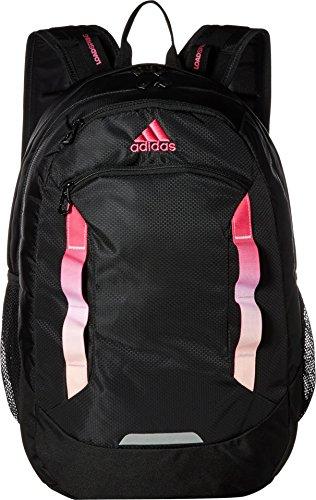 adidas Excel Backpack, Black/Shock Pink/Clear Orange, One Size