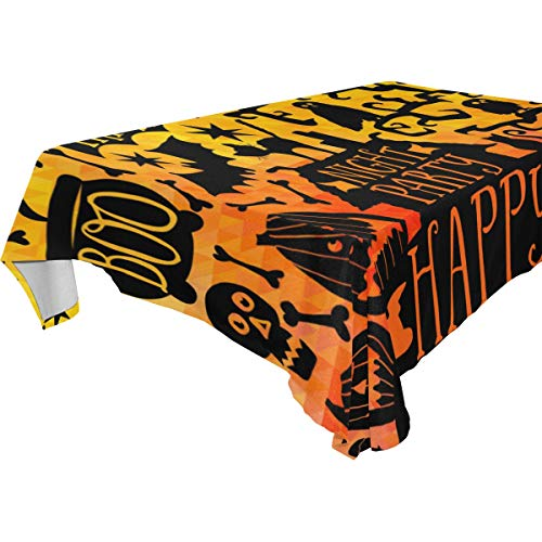 Dragon Sword Happy Halloween Washable Polyester Tablecloth Table