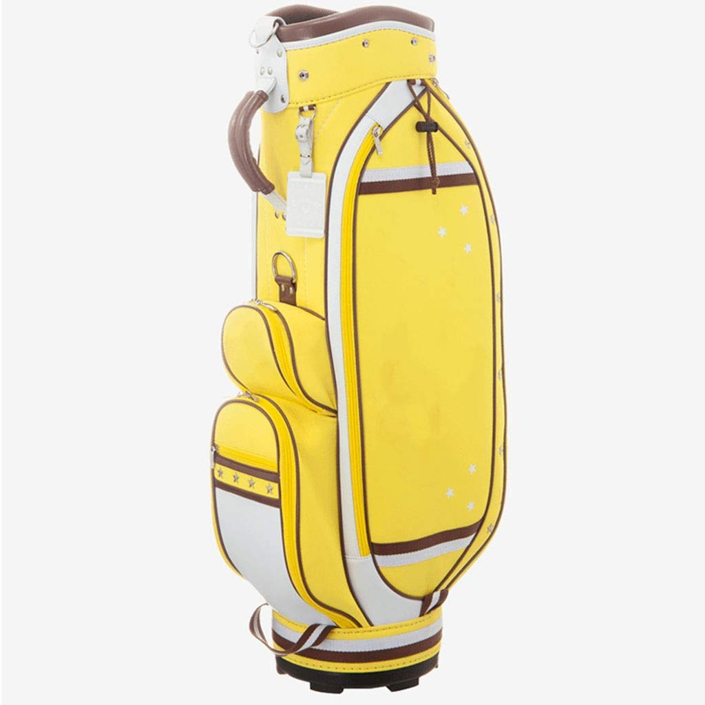 NTWXY Golf Bag, Lightweight and Portable, 100% Waterproof, Yellow
