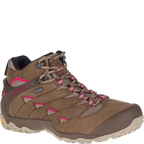 Image of Merrell Women's Chameleon 7 MID Waterproof Hiking Shoe, Stone, 10.5 M US