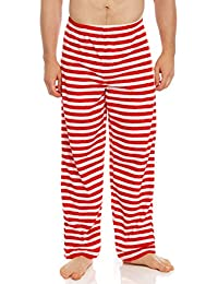 Men's Pajamas Pants Fleece Lounge Sleep Pj Bottoms...