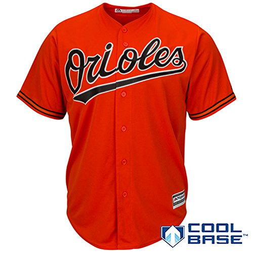 Baltimore Orioles Blank Orange Youth Cool Base Alternate 2 Jersey (Small 8)