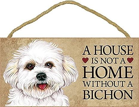 Amazon.com: Una Casa No Es Un Hogar Sin un Bichon – cartel ...