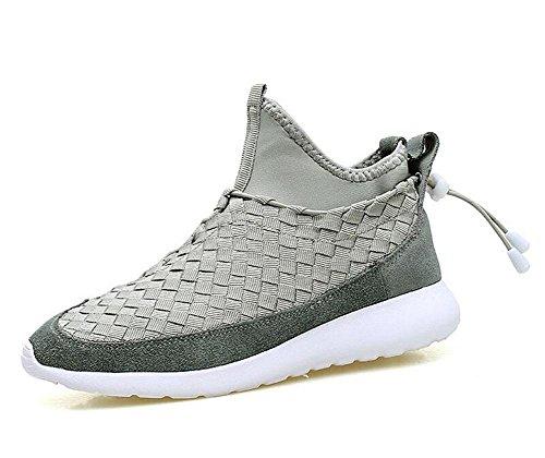 SHIXR Sport Schuhe Paar Modelle gewebt Casual Schuhe Männer und Frauen mit dem gleichen Satz von Schuhen Laufschuhe schwarz blau grau , grey , 44