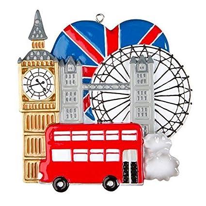 Amazon Com London England Personalized Christmas Tree Ornament