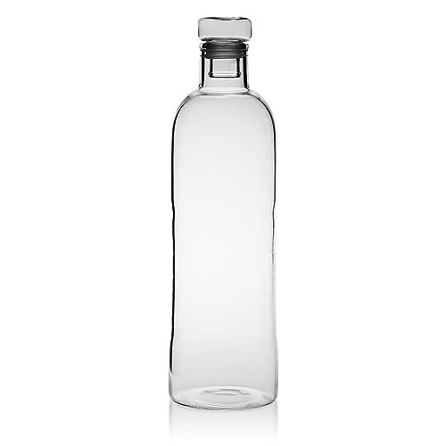 Evilandat - Botella de agua sin BPA, botella de vidrio, bebidas frías y calientes