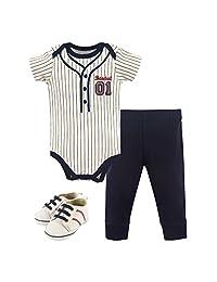 Little Treasure Unisex-Baby Baby Bodysuit, Pant Shoe Set