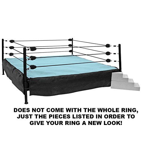 Wrestling Ring Conversion Kit: Deal 4 (Black & Blue Extreme Deal) by Figures Toy Company