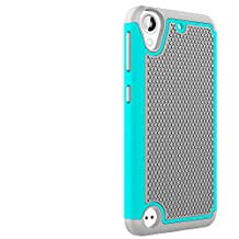 HTC Desire 530 Case,HTC 630 Case,LUOLNH [2 in 1] Shock Absorbing Hybrid Impact Defender Rugged Slim Cover Shell w/ Plastic Outer & Rubber Silicone Inner for HTC Desire 530(Grey/Mint)