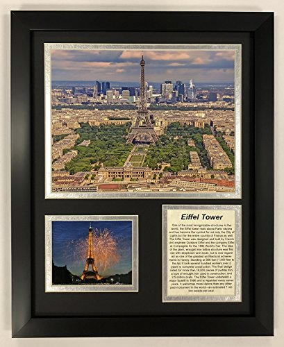 """Legends Never Die Eiffel Tower Framed Double Matted Photos, 12"""" x 15"""""""