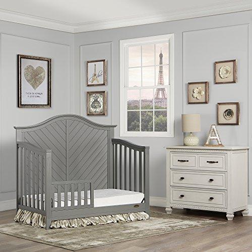 51Pvs4JkIqL - Dream On Me Ella 5-in-1 Full Size Convertible Crib, Storm Grey