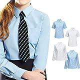 Rimi Hanger Kids Girls Collared School Uniform Shirt Blouse