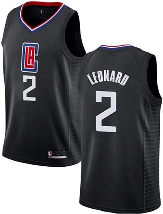 CCKWX Camiseta De Baloncesto para Hombre- 2 Leonard Jersey ...