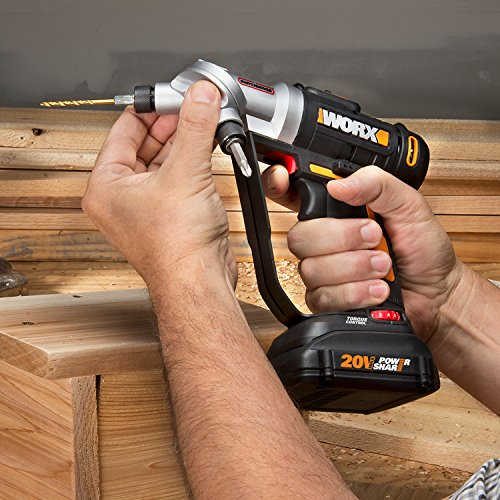 WORX WX176L.9 20V Switchdriver 2-in-1 Cordless Drill and Driver Tool Only with Rotating Dual Chucks and 2-Speed Motor with Precise Electronic Torque Control (Tool Only)