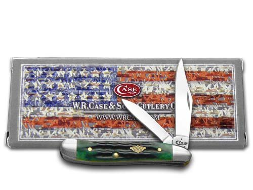 W.R. Case & Sons Cutlery Case Hunter Green Bone Peanut Pocket Knife
