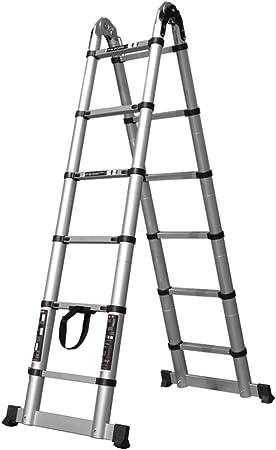 MC-BLL-ladder Escalera portátil de bambú Escalera de Mano Escalera Plegable de Mano Escalera de extensión Escalera de aleación de Aluminio Grueso Escalera de ingeniería Recta ático: Amazon.es: Hogar