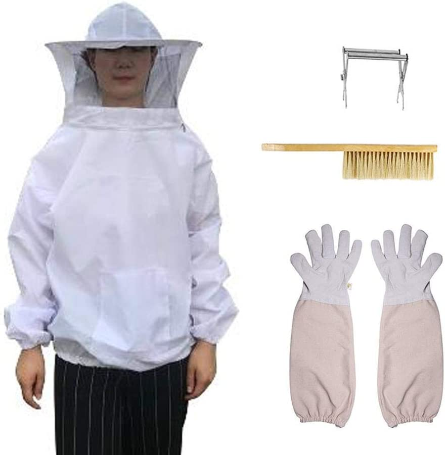 Lamptti Beekeeping Starter Kit Beekeeping Equipment Tool Including Beekeeping Suit Jacket/& Gloves Hook Hive Great for Professional Beginner Beekeepers Bee Hive Brush,queen Catcher