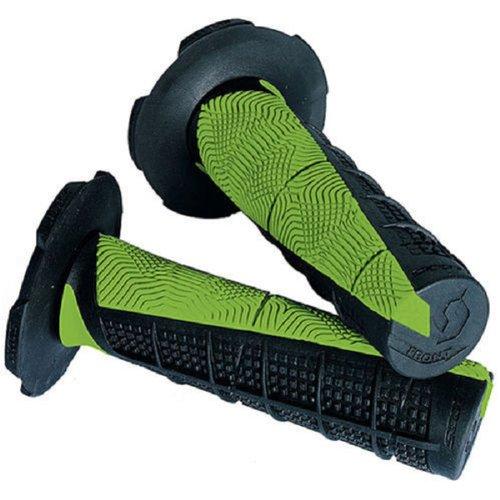 Green Black Scott Deuce Handlebar Hand Grips and Free Sticker Fits Kawasaki Kx80 Kx85 Kx100 Kx125 Kx250 Kx500 Kx250f Kx450 Kx450f Kdx200 Kdx220 Klx250 Klx300 1980-2014