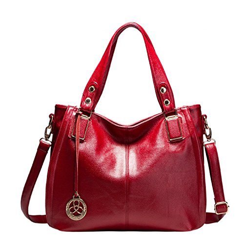 Sanxiner Leather Top Handle Bag Shoulder Bags Designer Handbag Purse for Women (Red) by Sanxiner