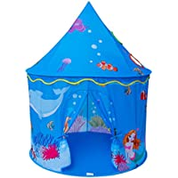 Homfu Play Tent For Kids Mermaid Castle Playhouse For...