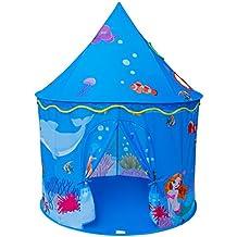 Homfu Play Tent For Kids Mermaid Castle Playhouse For Boys Girls Sea World Pattern Children Tent