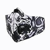 BS Dustproof Mask - Activated Carbon Dust Masks - with Extra Filter Cotton Sheet and Valves for Exhaust Gas, Anti Pollen Allergy, PM2.5, Running, Cycling, Outdoor Activities (Gray)