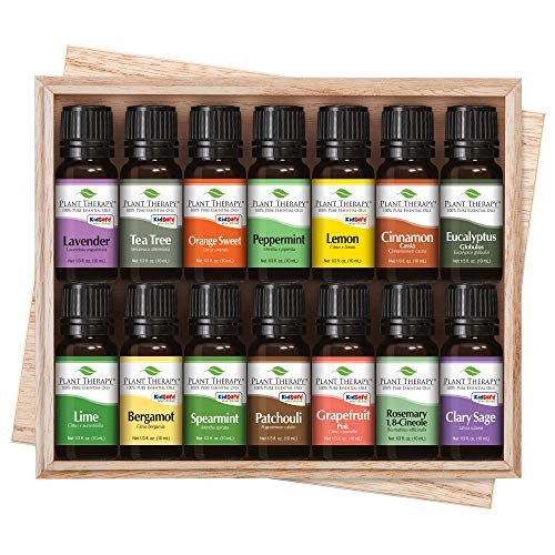 Plant Therapy Top 14 Essential Oil Set, Includes 100% Pure, Undiluted, Therapeutic Grade Oils 10 mL - Top Plant