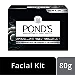 POND'S Charcoal Anti-pollution Home Facial Kit– With Cleanser, Scrub, Revitalizing cream, Massage Cream, Mask & Finishing Cream 72 g