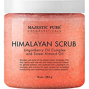 Himalayan Salt Body Scrub with Lingonberry, Exfoliating Salt Scrub to Exfoliate & Moisturize Skin, Deep Cleansing for Women and Men - 10 oz