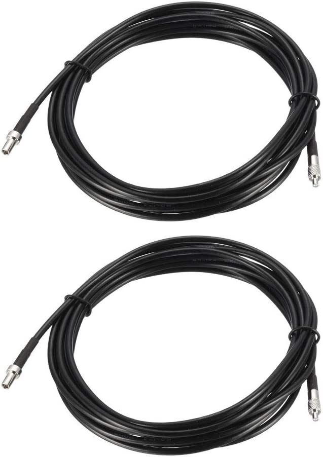 uxcell TS9 Male to TS9 Female RF Coaxial Cable RG174 Jumper Cable 16.4 ft 2pcs