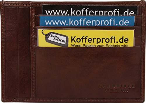 The Bridge Story hombre Porta tarjetas de credito piel 13,5 cm Braun