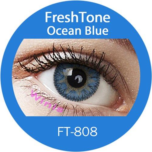 Farbige Kontaktlinsen Monatslinsen blau ozeanblau