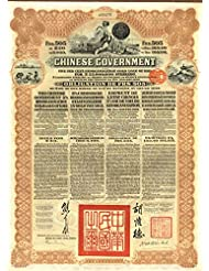 Chinese £20 Reorganization Gold Loan Brown Bond of 1913 with PASS-CO authentication