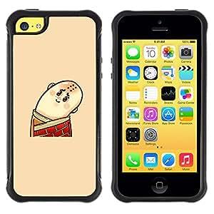 "Hypernova Defender Series TPU protection Cas Case Coque pour Apple iPhone 5C [Divertido Hombre calvo""]"