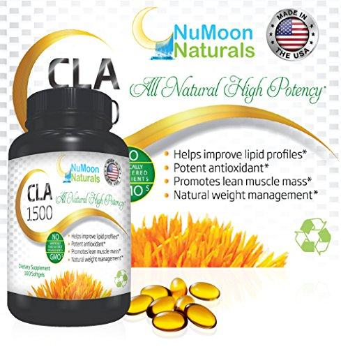 NuMoon-Naturals-CLA-1500mg-Highest-Potency-Conjugated-Linoleic-Acid-Supplements-Appetite-Suppressant-Weight-Loss-Natural-Diet-Pills-Fat-Burner-Metabolism-Booster-180-Softgels