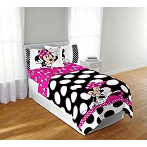 Amazon Com Disney S Minnie Mouse Pink Amp Black Polka Dots