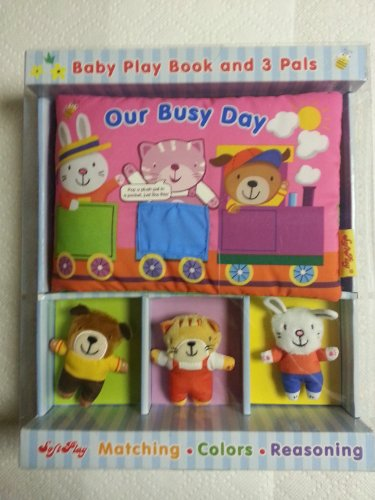 Softplay Our Busy Day Baby Play Book and 3 Pals by Softplay
