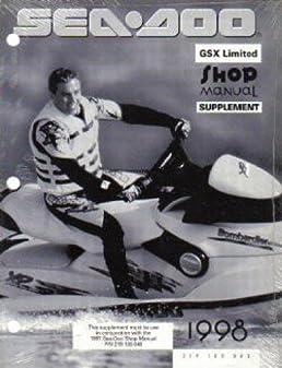u219 100 063 used 1997 1998 sea doo gsx limited service manual rh amazon com 97 seadoo gtx manual 97 seadoo gsx manual