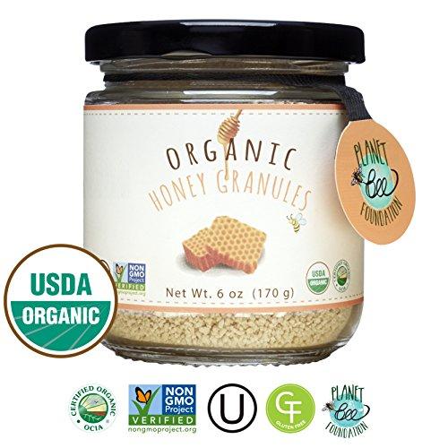 GREENBOW Organic Honey Granules - 100% USDA Certified Organic, Gluten Free, Non-GMO Organic Honey Granules - Highest Quality Whole Food Organic Honey Granules - 6oz ()