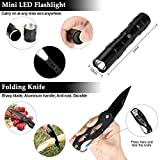 XUANLAN Emergency Survival Kit 13 in 1, Outdoor Survival Gear Tool with Survival Bracelet, Fire Starter, Whistle, Wood Cutter, Water Bottle Clip, Tactical Pen for Camping, Hiking,
