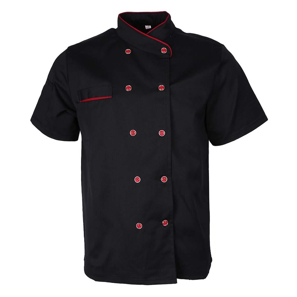 IPOTCH Uniformi Da Cuoco Giacche da Chef Unisex Con Tasca Giacca Da Cuoco