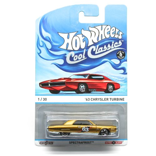 '63 CHRYSLER TURBINE (GOLD) * 1 of 30 * Hot Wheels Spectrafrost 2013 Cool Classics Die-Cast Vehicle