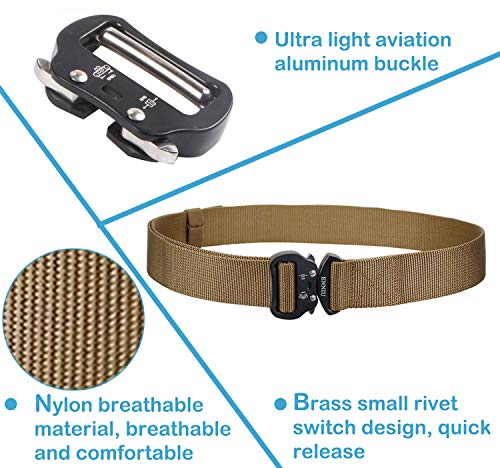 Canvas Sicurezza cinture Cachi Uomo Fibbia tessuto in Cintura Caccia Borse Donna Per Cinture e Aizesi Streetwear lealtà Militare Cintura S4wzO5Uqq
