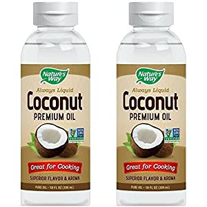 Nature's Way Liquid Coconut Premium Oil 10 oz (Pack of 2)