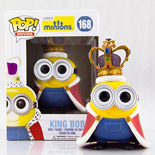 Funko Pop Movies Minions King Bob Minion Vinyl Action Figure Collectible Toy 168 (Sucker Punch Pokemon)