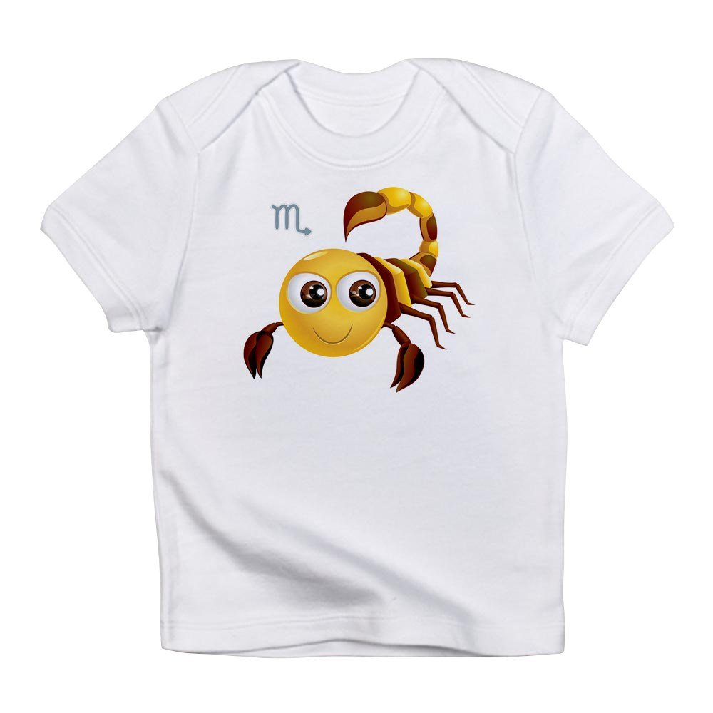 Truly Teague Infant T-Shirt SmileyFace Zodiac Scorpio Cloud White 6 To 12 Months