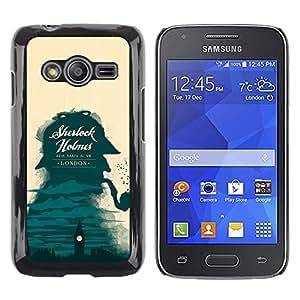 Be Good Phone Accessory // Dura Cáscara cubierta Protectora Caso Carcasa Funda de Protección para Samsung Galaxy Ace 4 G313 SM-G313F // Sherlock Detective London Big Ben
