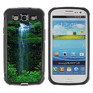 LASTONE PHONE CASE / Suave Silicona Caso Carcasa de Caucho Funda para Samsung Galaxy S3 I9300 / Waterfall Green